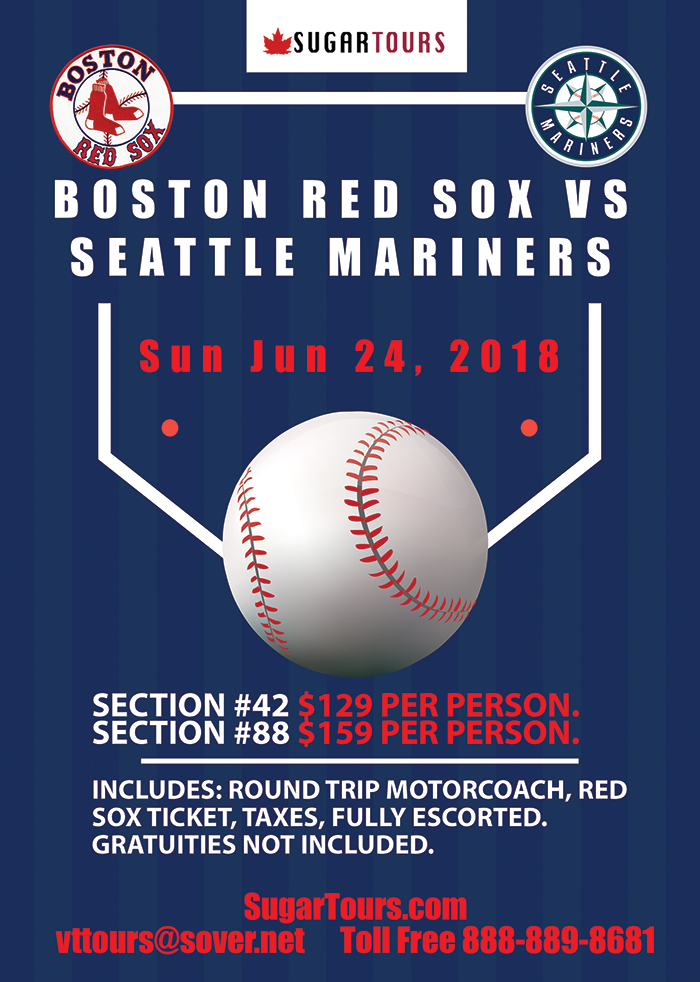 Boston Red Sox Day Trip Sugar Tours
